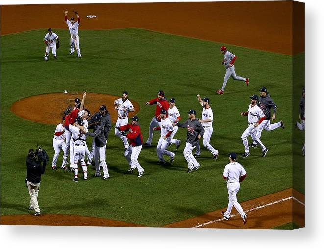 Playoffs Canvas Print featuring the photograph World Series - St Louis Cardinals V by Jamie Squire