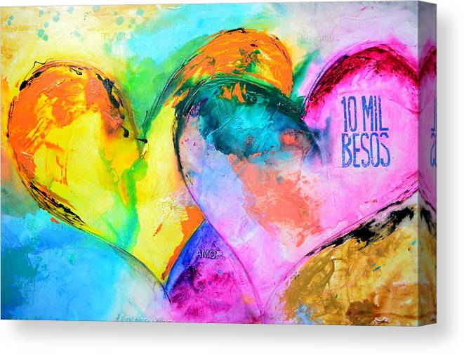 Heart Canvas Print featuring the painting Yo Te Amo by Ivan Guaderrama