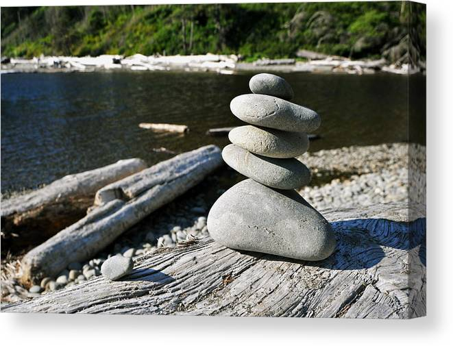 Rocks Canvas Print featuring the photograph Zen Rocks by Crystal Hoeveler