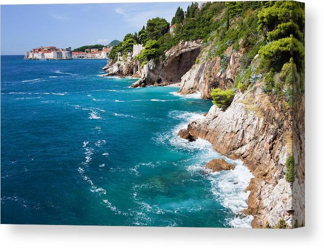 Nature Canvas Print featuring the photograph Adriatic Sea Coastline by Artur Bogacki