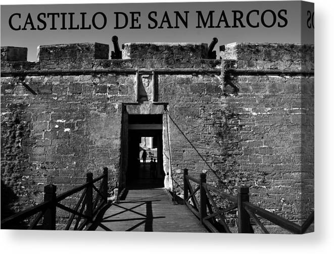 Fine Art Photography Canvas Print featuring the photograph Castillo De San Marcos by David Lee Thompson