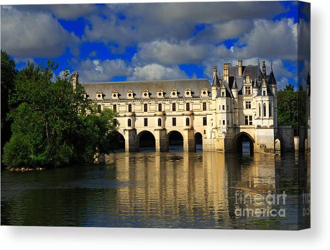 Chateau Canvas Print featuring the photograph Chateau Chenonceau by Louise Heusinkveld