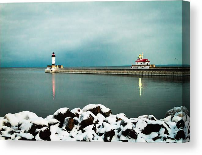 Duluth Canvas Print featuring the photograph Duluth Harbor by David Wynia