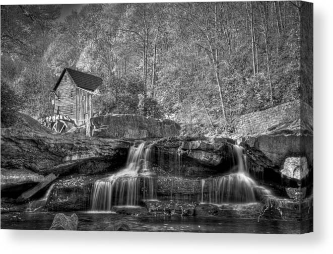 West Virginia Canvas Print featuring the photograph Glade Creek Grist Mill At Babcock by Williams-Cairns Photography LLC