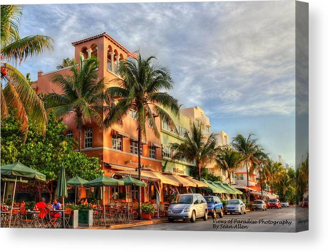 Florida Canvas Print featuring the photograph South Beach by Sean Allen