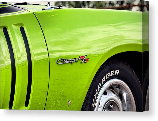 Sassy Canvas Print featuring the photograph 1971 Dodge Charger Rt by Ryan Dean