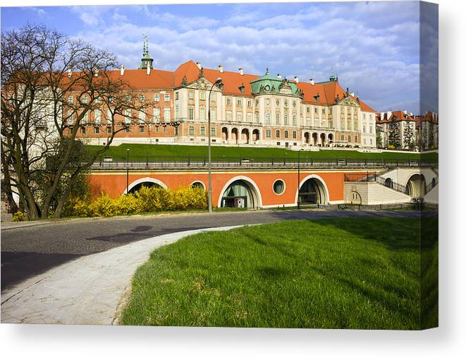 Warsaw Canvas Print featuring the photograph Royal Castle In Warsaw by Artur Bogacki