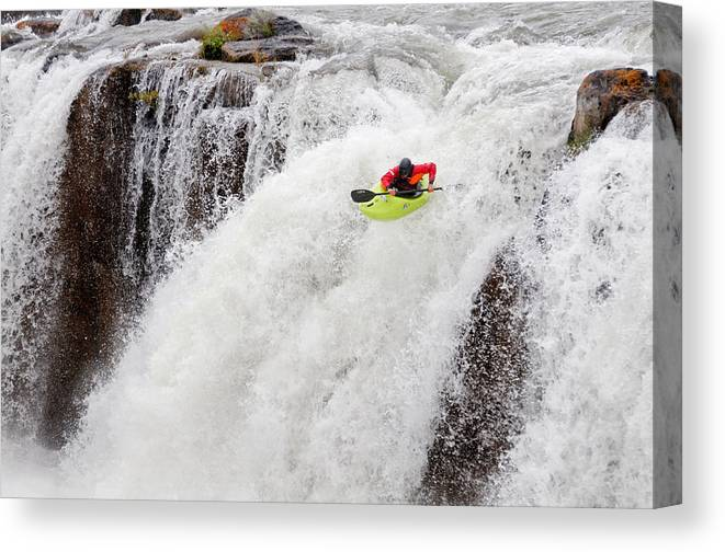 Cooper Lambla Canvas Print featuring the photograph Kayaking by Elijah Weber