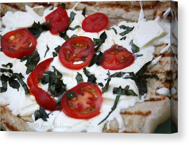 Grilled Canvas Print featuring the photograph Grilled Pizza by Annie Babineau