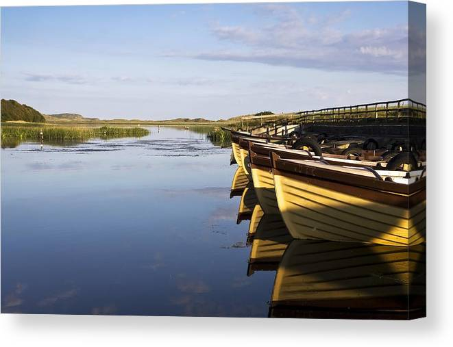 Boat Canvas Print featuring the photograph Dunfanaghy, County Donegal, Ireland by Peter McCabe