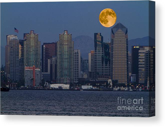 Blue Canvas Print featuring the photograph 7992 by Daniel Knighton