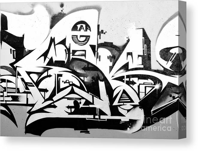 Abstract Graffiti In Black And White Canvas Print