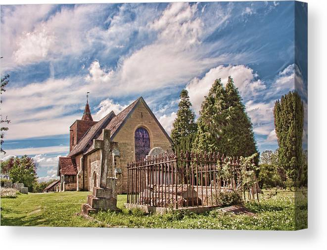 All Canvas Print featuring the photograph All Saints Tudeley by Dave Godden