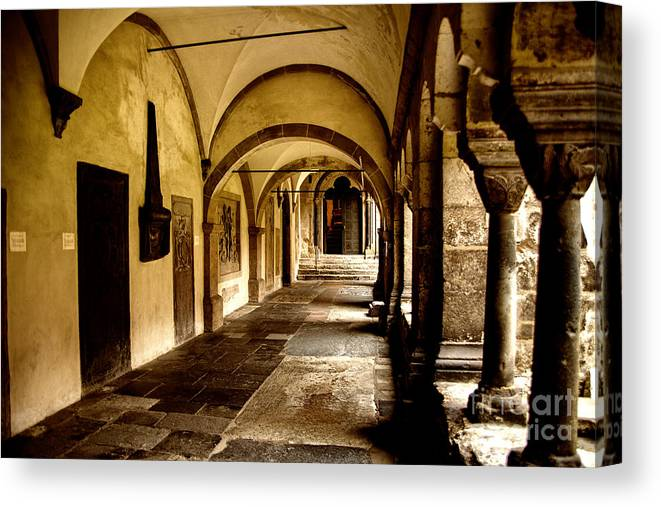 Germany Ancient Structures Canvas Print featuring the photograph Ancient Columns by Rick Bragan