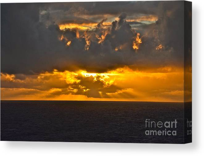 Sunset Canvas Print featuring the photograph Another Caribbean Sunset by Carol Bradley