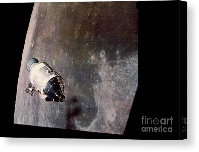Apollo Canvas Print featuring the photograph Apollo Command And Service Model by Nasa