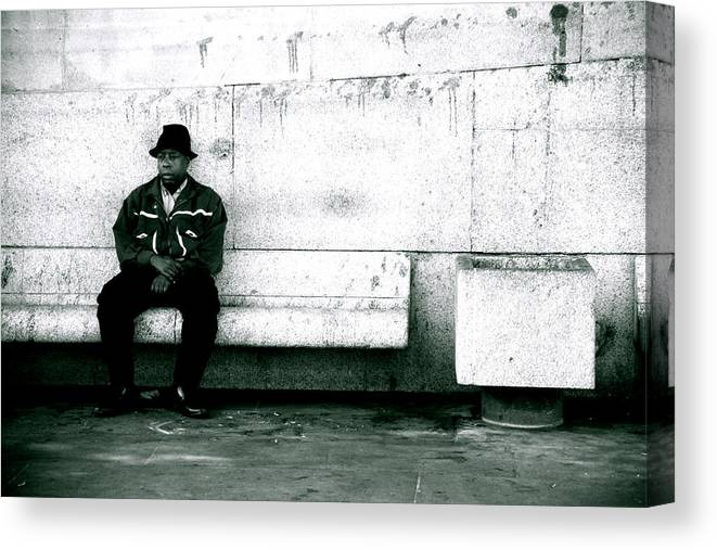 Canvas Print featuring the photograph As Good A Place To Sit As Any by Jez C Self