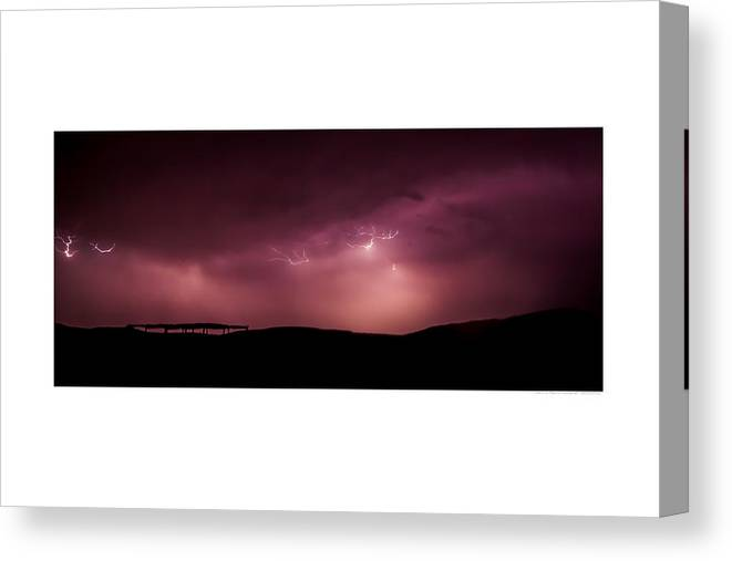 Lightning Canvas Print featuring the photograph Atsiniltish by Andreas Hohl