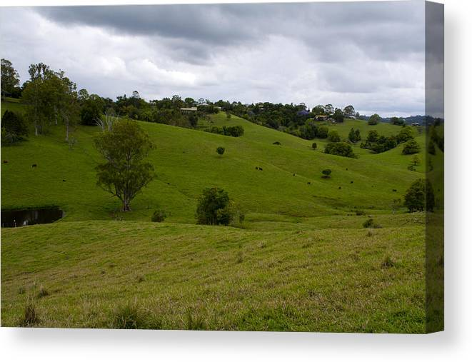 Australian Landscape Photographer Canvas Print featuring the photograph Aussie Countryside by Paul Robb