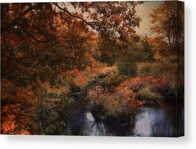 Autumn Canvas Print featuring the photograph Autumn Oasis by Robin-Lee Vieira