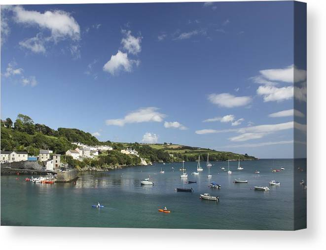 Boat Canvas Print featuring the photograph Bay Beside Glandore Village In West by Trish Punch