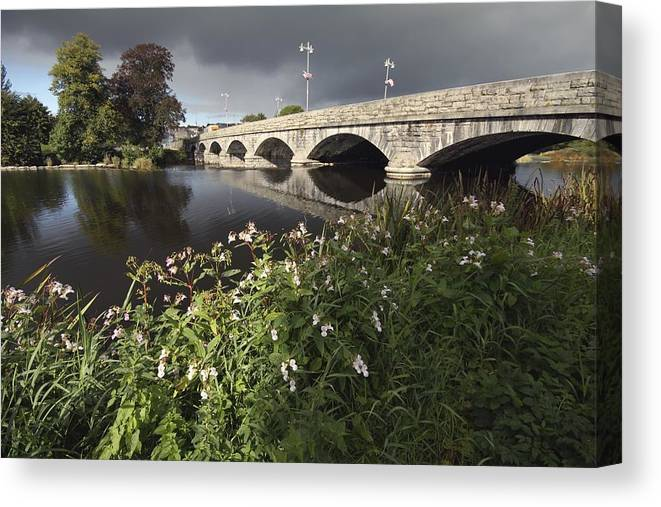 Munster Province Canvas Print featuring the photograph Blackwater River In Munster Region by Trish Punch