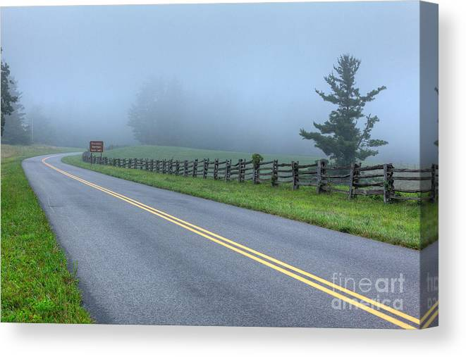 North Carolina Canvas Print featuring the photograph Blue Ridge Parkway At Northwest Trading Post I by Dan Carmichael