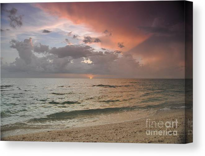 Boca Grande Canvas Print featuring the photograph Boca Grande Florida Sunset by John Black