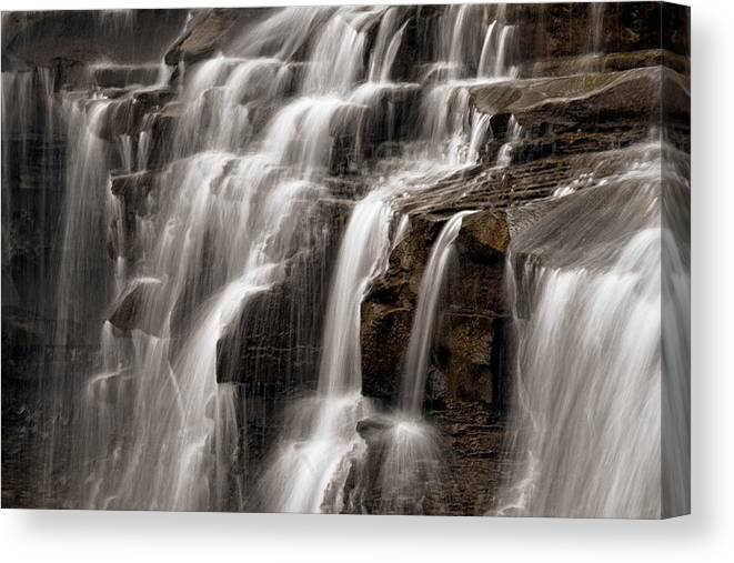 Water Canvas Print featuring the photograph Brandywine Falls by Dale Kincaid