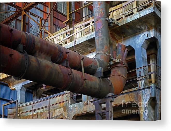 Warehouses Canvas Print featuring the photograph Britannia Mines by Randy Harris
