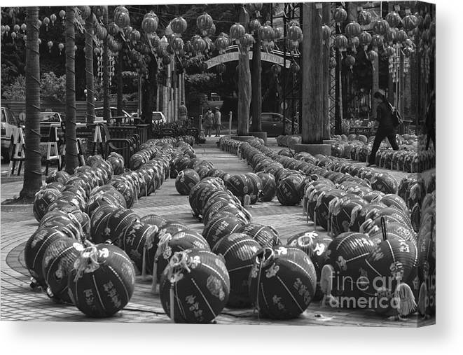 Chinese Canvas Print featuring the photograph Chinese Lanterns by Gary Bridger