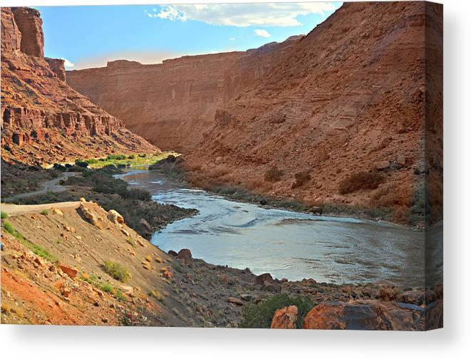 Colorado Canvas Print featuring the photograph Colorado River Canyon 1 by Marty Koch