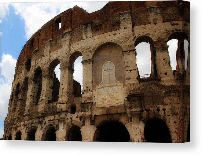 Rome Canvas Print featuring the photograph Colosseum 1 by Andrew Fare