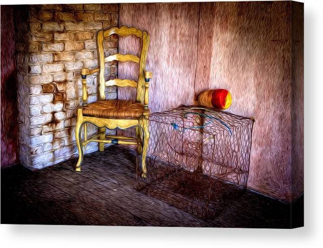 Crab Pots Canvas Print featuring the photograph Crabbers Corner by Williams-Cairns Photography LLC