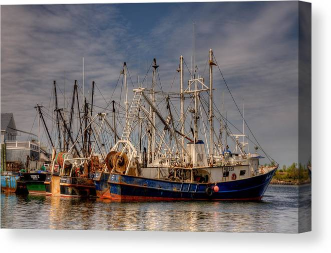 Fishing Canvas Print featuring the photograph Done For The Day by Darren Landis