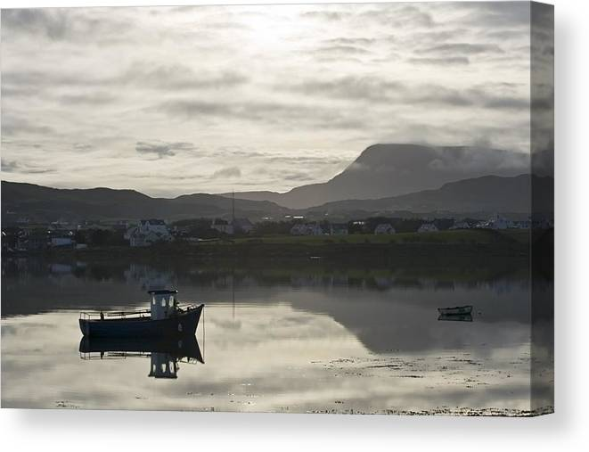 B&w Canvas Print featuring the photograph Dunfanaghy, County Donegal, Ireland by Peter McCabe