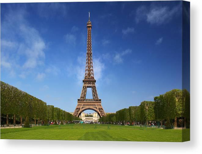Paris Canvas Print featuring the photograph Eiffel Tower by Dan Breckwoldt