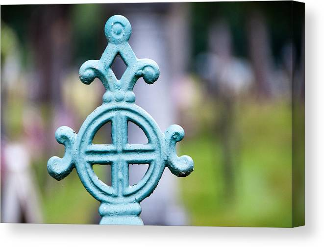 Abstract Canvas Print featuring the photograph Finial by Kari Swanson