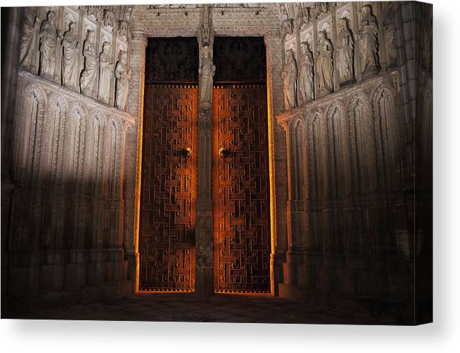 Underworld Canvas Print featuring the photograph Gateway To The Underworld by David Dalrymple