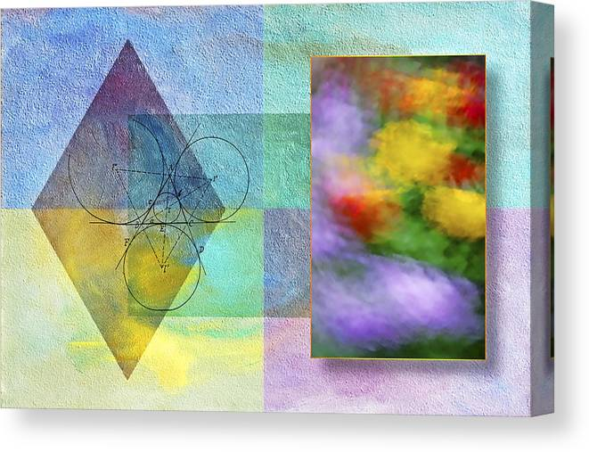 Abstract Canvas Print featuring the photograph Geometric Blur by Susan Candelario