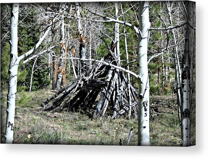 Outdoor Canvas Print featuring the photograph Hut by Treena Bridges