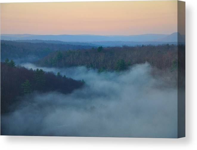 Misty Canvas Print featuring the photograph Misty Mountain Hop by Bill Cannon