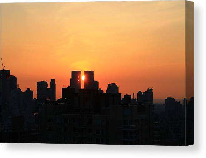 Sunset Canvas Print featuring the photograph Moving Right by Catie Canetti