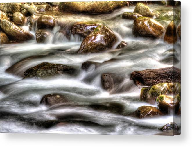 Water Canvas Print featuring the photograph Natural Rush by Barry Jones