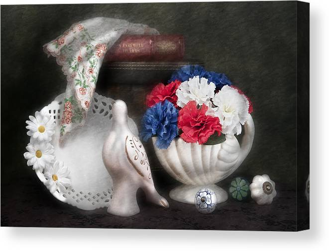Bird Canvas Print featuring the photograph Objects In Still Life by Tom Mc Nemar