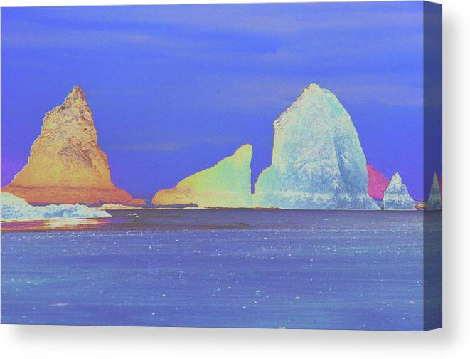 Water Canvas Print featuring the photograph Oceanside Rocks by One Rude Dawg Orcutt