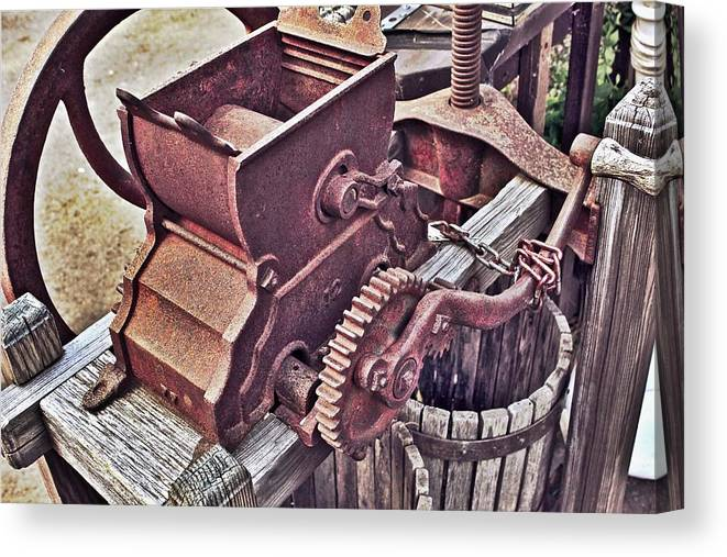 Old Apple Press Canvas Print featuring the photograph Old Apple Press 3 by Bill Owen