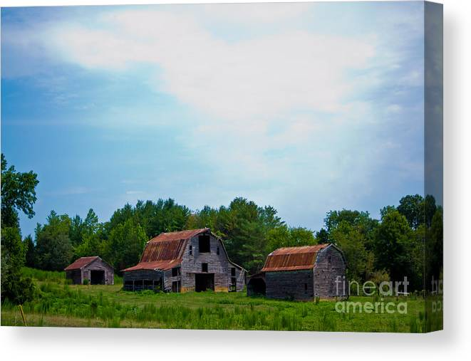 Old Canvas Print featuring the photograph Old Barns by Scott Hervieux