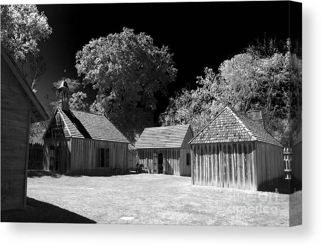 Fort Canvas Print featuring the photograph Old Fort by Ken Frischkorn