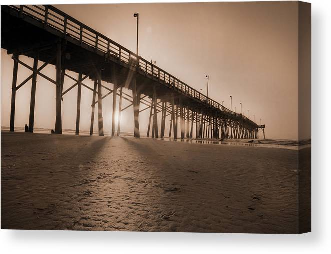 Beach Canvas Print featuring the photograph Once Every Morning by Betsy Knapp
